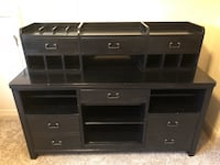 6 piece includes 2 desks, credenza, printer table and filing cabinet.  Ball Ground, 30107