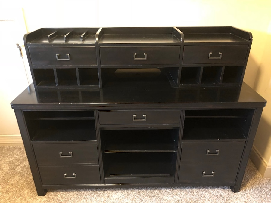 Used 6 Piece Includes 2 Desks, Credenza, Printer Table And Filing Cabinet.  For Sale In Ball Ground   Letgo