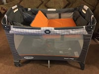 orange, black, and gray Graco travel cot Bakersfield, 93307