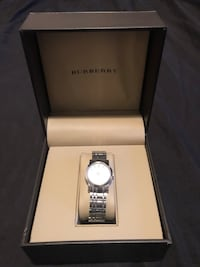 Authentic Silver Burberry Watch. Only wore at parties. Willing to trade. Toronto, M6L