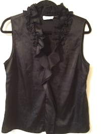 black and gray sleeveless top 250 mi