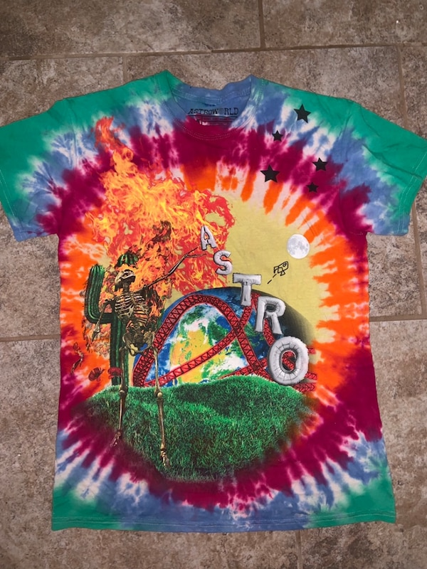 962e56abf65e Used Travis Scott Astroworld Tie Dye Shirt for sale in Oklahoma City - letgo