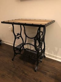 Industrial Antique Treadle Sewing Table Desk