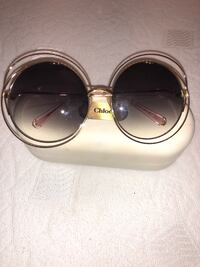 UNREAL PRICE! AMAZING AUTH CHLOE CARLINA ROUND FRAME GOLD TONE SUNGLASSES Los Angeles, 91401