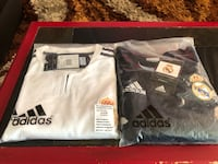 black and white Adidas jersey shirt