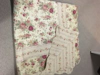 White, pink, and green floral textile Bradford West Gwillimbury, L3Z 0C6