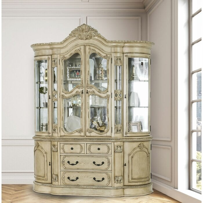 China cabinet with matching 6 seater expandable dining set.