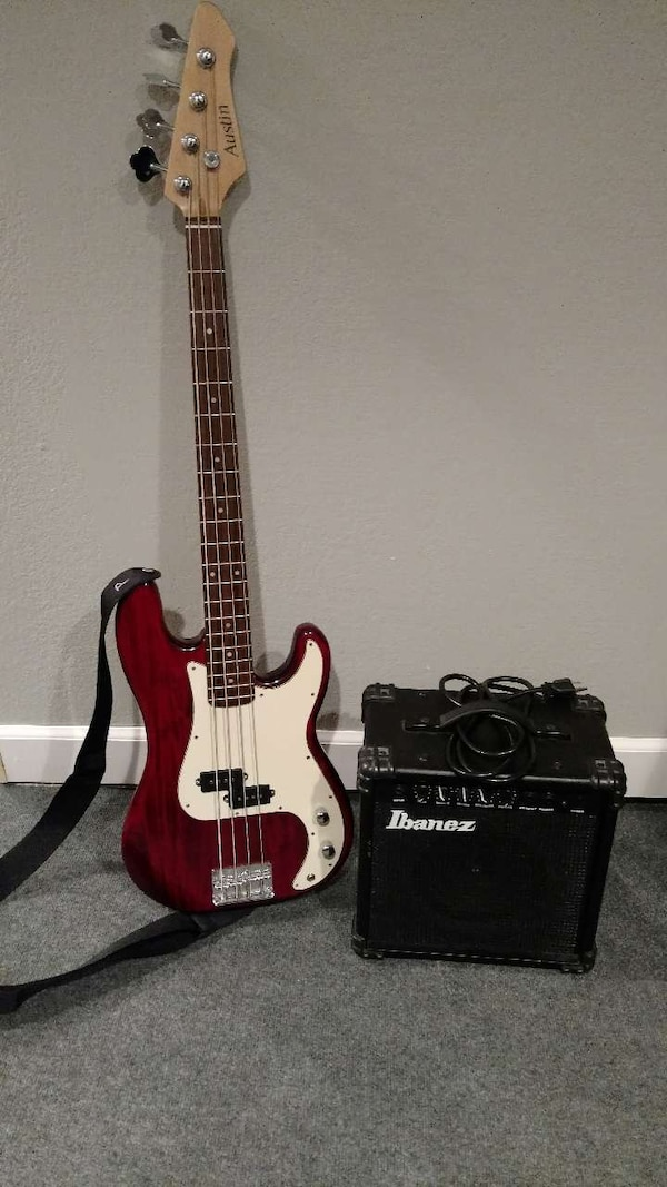 used austin bass guitar and ibanez bass amp for sale in dubuque letgo. Black Bedroom Furniture Sets. Home Design Ideas