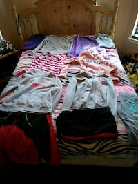 assorted-color shirts and jackets