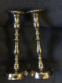 Heavy Russian Brass Candlesticks