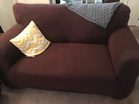 Super comfy but worn loveseat. Cover is a must and comes with it. Nashville, 37212
