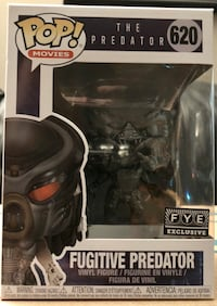 Funko Pop Fugitive Predator FYE Exclusive Black Chrome 620  Mississauga, L5B 2A8