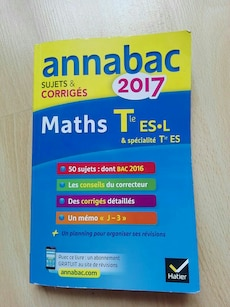 2017 Annabac SUJETS & Corriges Maths book