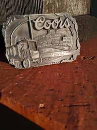 Coors Brewery Pewter Belt Buckle