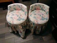 two white-and-blue floral padded chairs Granger, 98932
