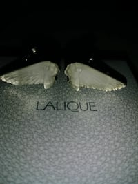 two grey Lalique accessories