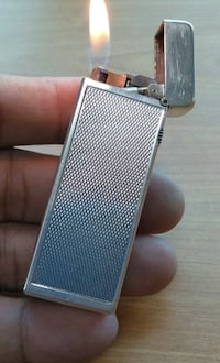 Dunhill Rollagas silver plated lighter Vienna, 22180