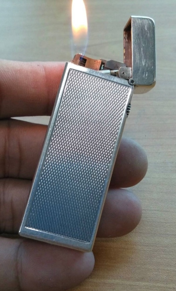 Dunhill Rollagas silver plated lighter