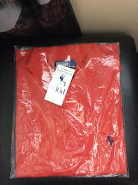 Red ralph lauren polo shirt