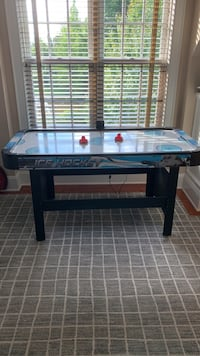 Small air hockey table game