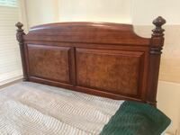 brown wooden bed headboard and footboard Poway