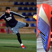 Messi Red,blue and white cleats Size: 5 Brand: adidas BOYS AND GIRLS  Langley, V3A