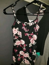 women's black and pink floral sleeveless top Surrey, V3S 9R6