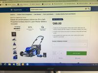 Electric kobalt 40v mower with charger and battery brand new never used Virginia Beach, 23454