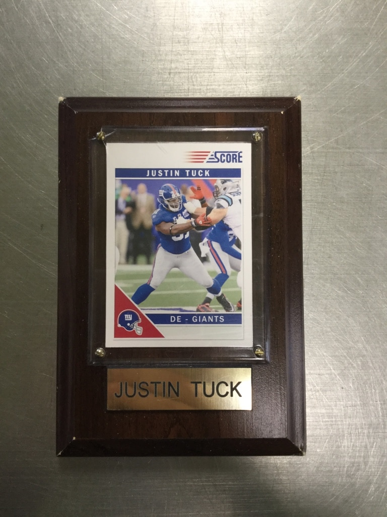 Photo Ny Giants Justin Tuck Plaque