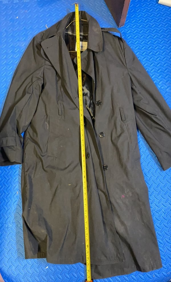 US Army Black Trench Coat 44L 2
