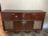 Antique hutch with integrated Record player, Radio and Mini bar Montreal, H1E 6Y6