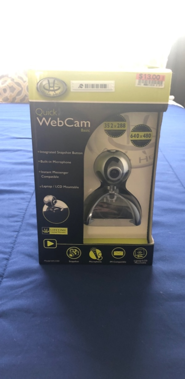 1c9d55ecd51 Used black and gray Logitech webcam in box for sale in Los Angeles ...