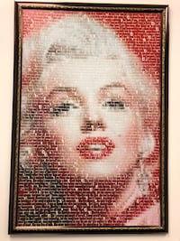 Marilyn Monroe Art painting with words New York, 11103