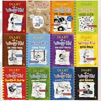 Diary of a Wimpy Kid Collection 12 Books Set Pack by Jeff Kinney  COLOMBO