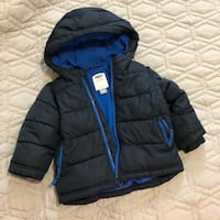 black and blue zip-up bubble jacket Toronto, M3M 2M1