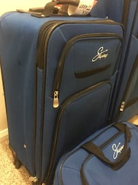 3 piece Blue soft-side luggage
