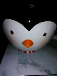 Christmas Penguin Bowl With Spoon