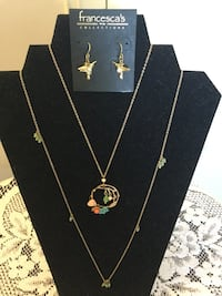 Francesca's Collection Floral pendant necklace and Humming bird earrings  Alexandria, 22311