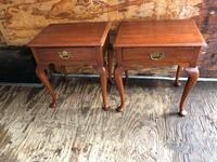 Pair of Henkel Harris One drawer End tables  Warrenton
