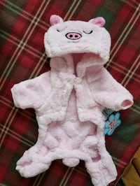 Pink plush dog coat size small $10.00 Vaughan, L4H 2G1