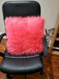 Decorative pillow, fluffy, coral.
