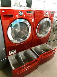 LG FRONT LOAD WASHER AND DRYER SET WITH PEDESTAL WORKING PERFECTLY  Baltimore, 21223