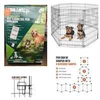 """Vibrant Life Indoor & Outdoor Pet Exercise Play Pen, 36""""H"""