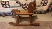 brown wooden rocking horse toy Falling Waters, 25419