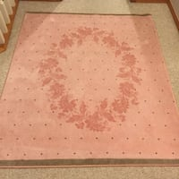 """4'3""""x 3'9"""" Pink and Brown Area Rug 3121 km"""