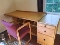 Desk, chair, and drawer set 20 km