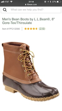 unpaired brown leather work boot screenshot Arlington, 22201
