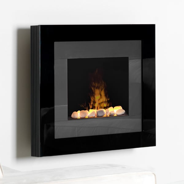 Dimplex Modern Electric Fireplace Heater Hangs on the Wall