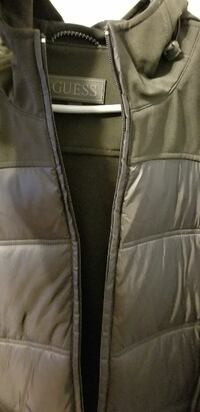 brown Guess full-zip jacket