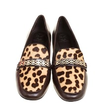 Authentic Tory Burch Women's Brown Leather.Leopard Print Cow Fur Toronto, M3A 2G4